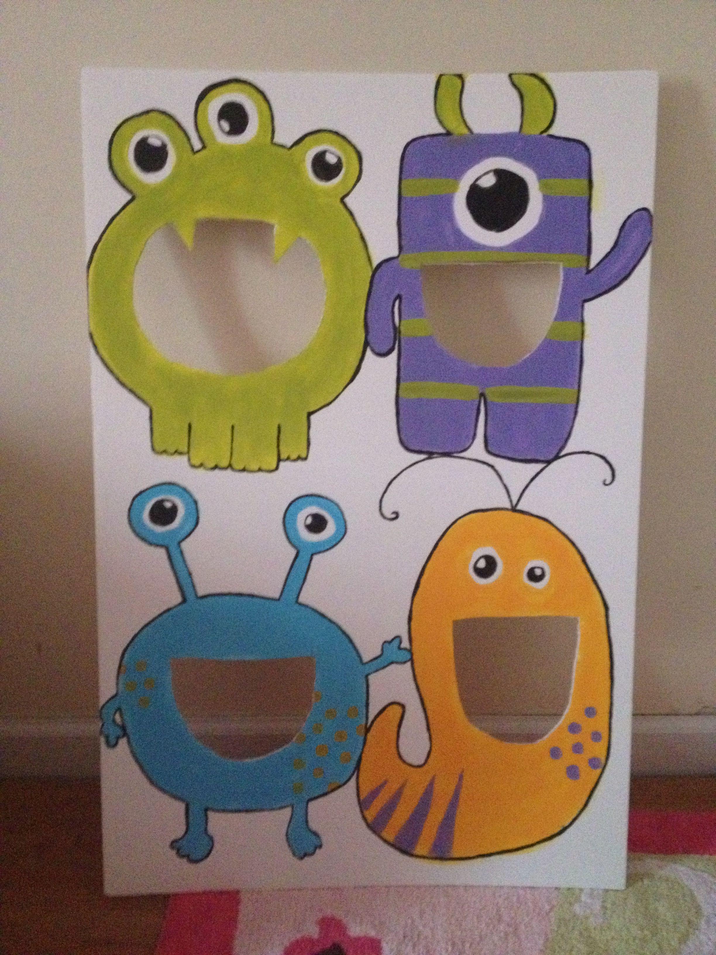 Diy Monster Bean Bag Toss For Zooey S 1st Birthday Diy