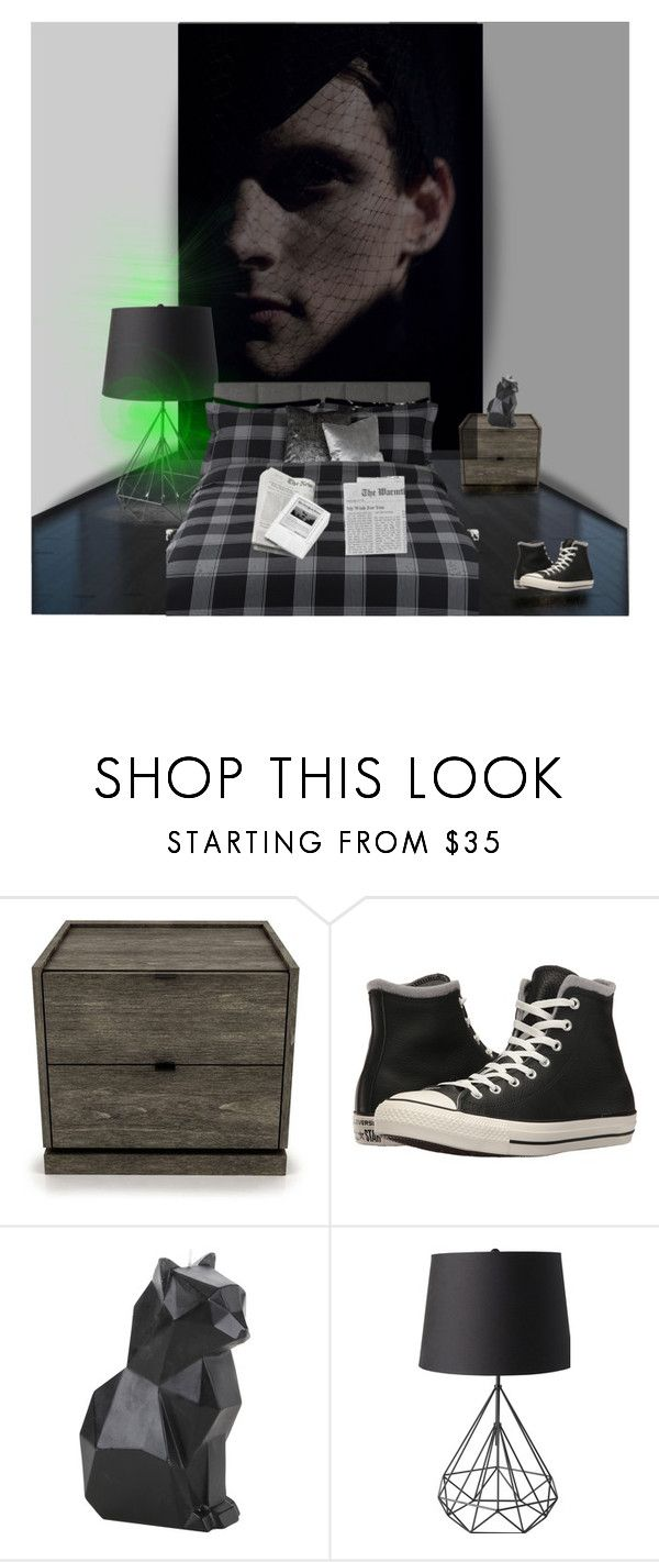 """Crazy in love"" by lablanchenoire ❤ liked on Polyvore featuring interior, interiors, interior design, home, home decor, interior decorating, Thom Browne, Huppé, Converse and Hot Topic"