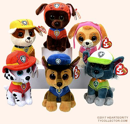 TY Beanie Boos Nickelodeon Paw Patrol Skye the dog Glitter Eyes New with tags