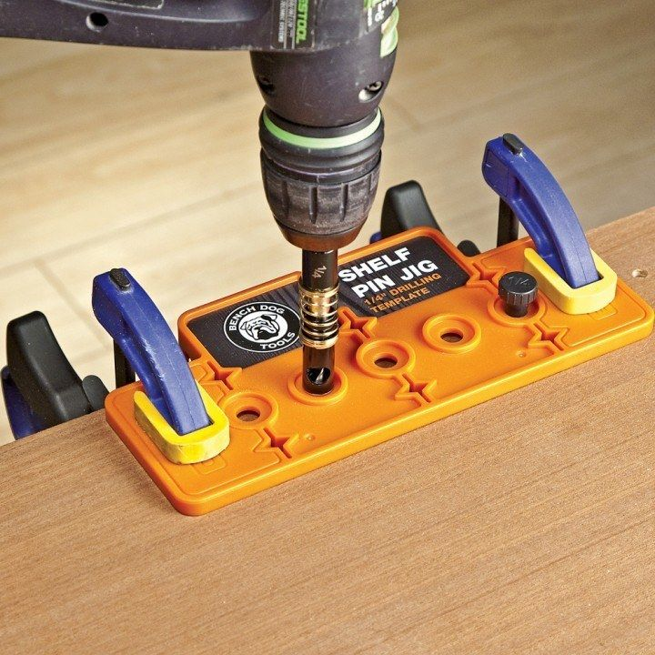 Rockler Bench Dog® 1/4'' Shelf Pin Jig