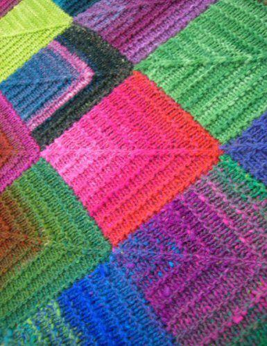 Mitered Square Afghan | Hyeknitter