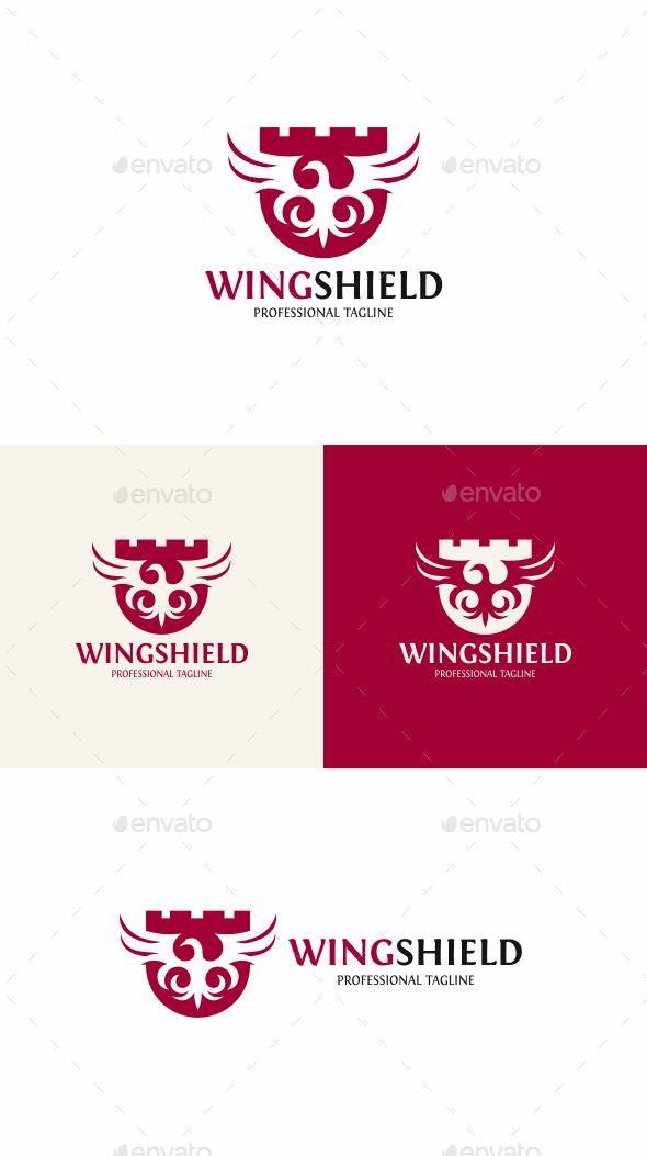Wing Shield Logo Design Template
