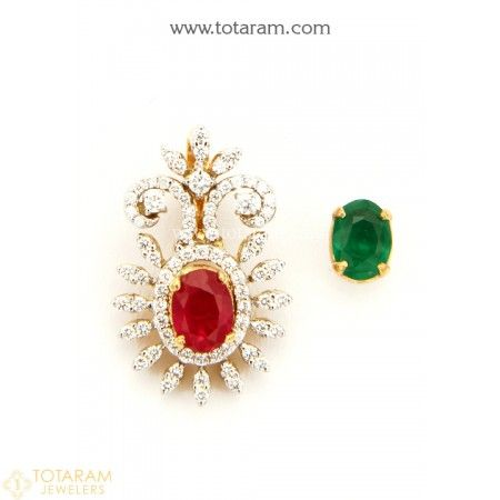 Diamond Pendants for Women Indian gold jewelry Diamond pendant