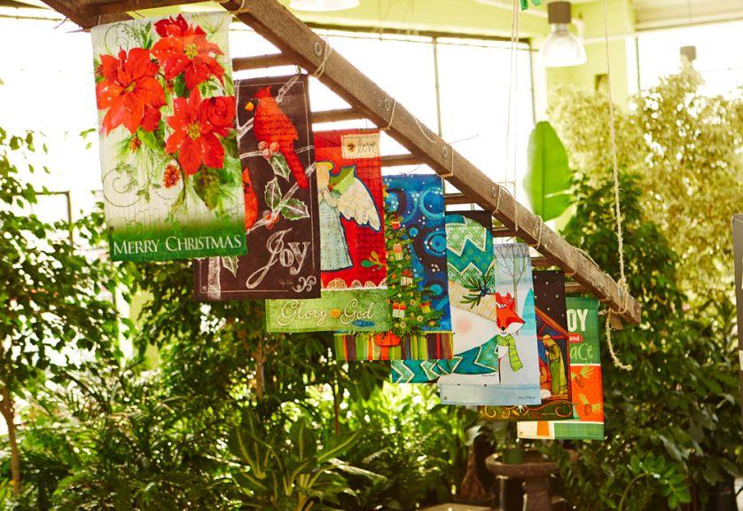 A Fun Way To Display Garden Flags!