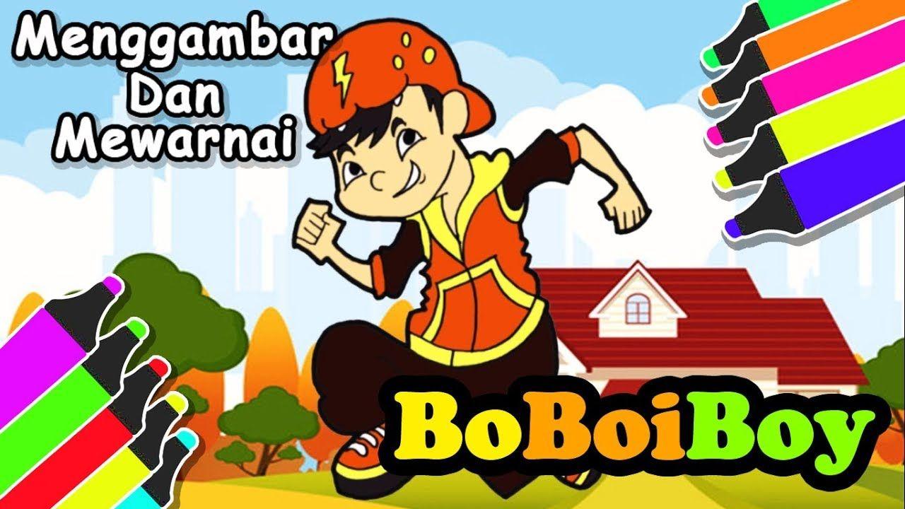 Kartun Boboiboy Menggambar Dan Mewarnai Kartun