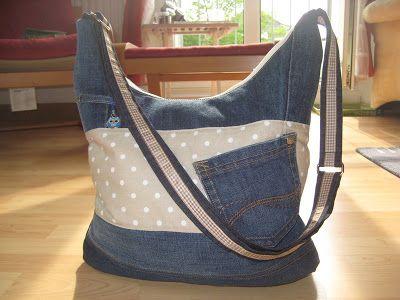 alles drin tasche jeans recycling taschen n hen pinterest. Black Bedroom Furniture Sets. Home Design Ideas