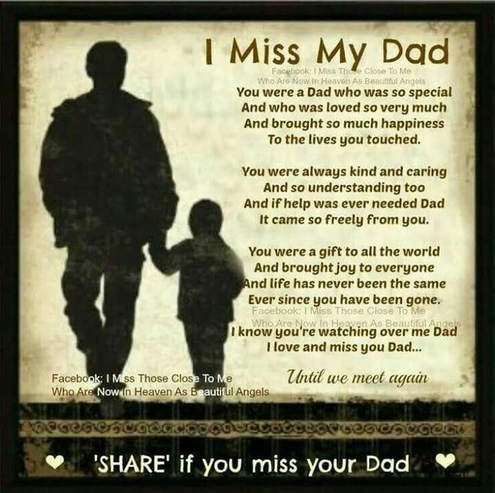 I Miss You Death Quotes: Dads, Death And Poem