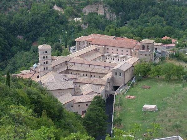 Veduta del Monastero Benedettino di Santa Scolastica – Subiaco