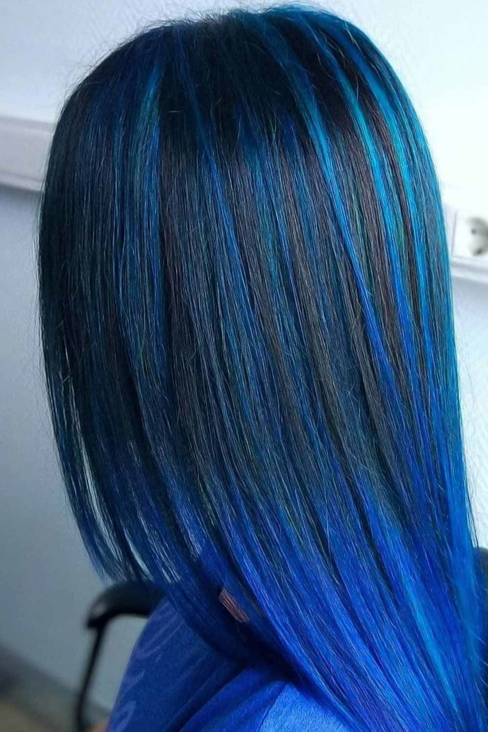 55 Tasteful Blue Black Hair Color Ideas To Try In Any Season In 2020 Hair Color For Black Hair Blue Black Hair Blue Black Hair Color