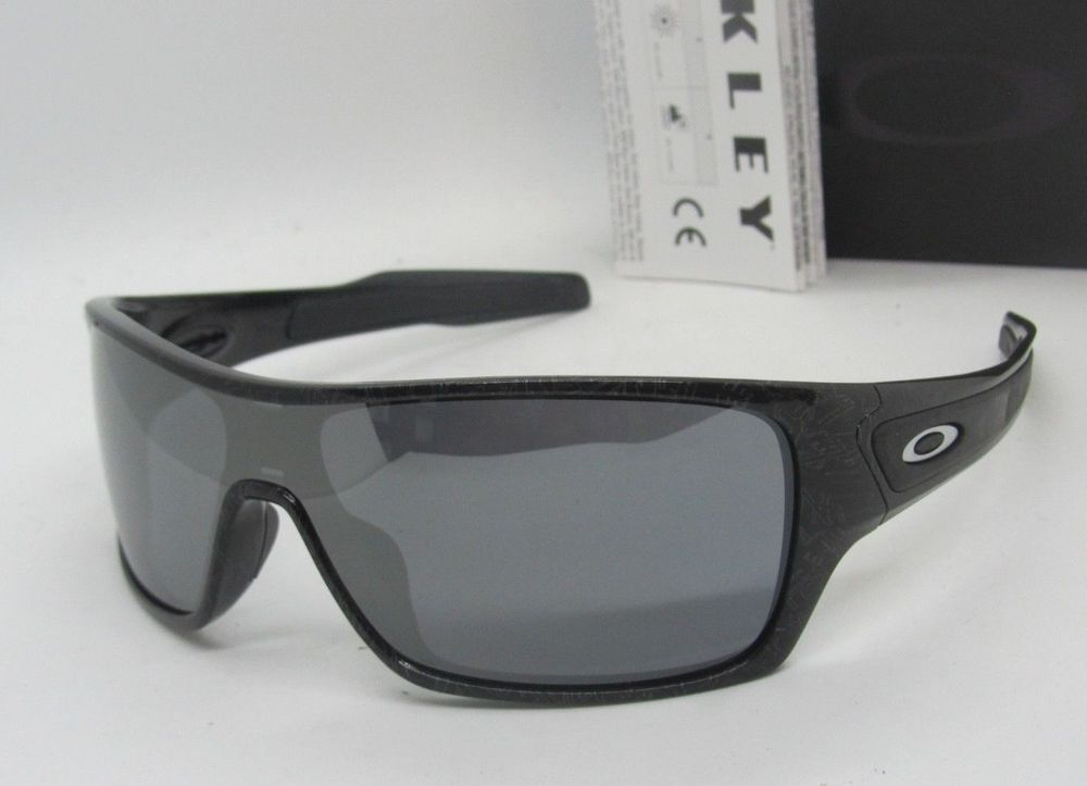 5ddb135a6d7 OAKLEY black silver ghost text black iridium TURBINE ROTOR OO9307-02  sunglasses