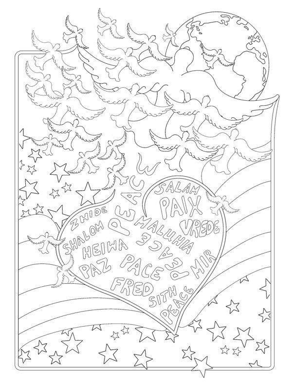 Printable Adult Coloring Page Digital Download, \u201cColor Me Peaceful