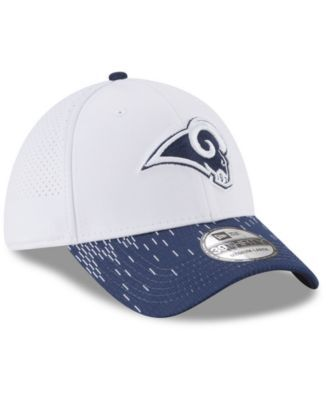 New Era Los Angeles Rams Equalizer 39THIRTY Cap - White Navy L XL ... a46898291