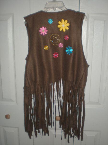 Hippie Vest Fleece throw