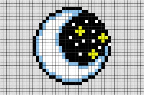 Moon Pixel Art Minecraft Moon Pixel Art Wwwimgarcade