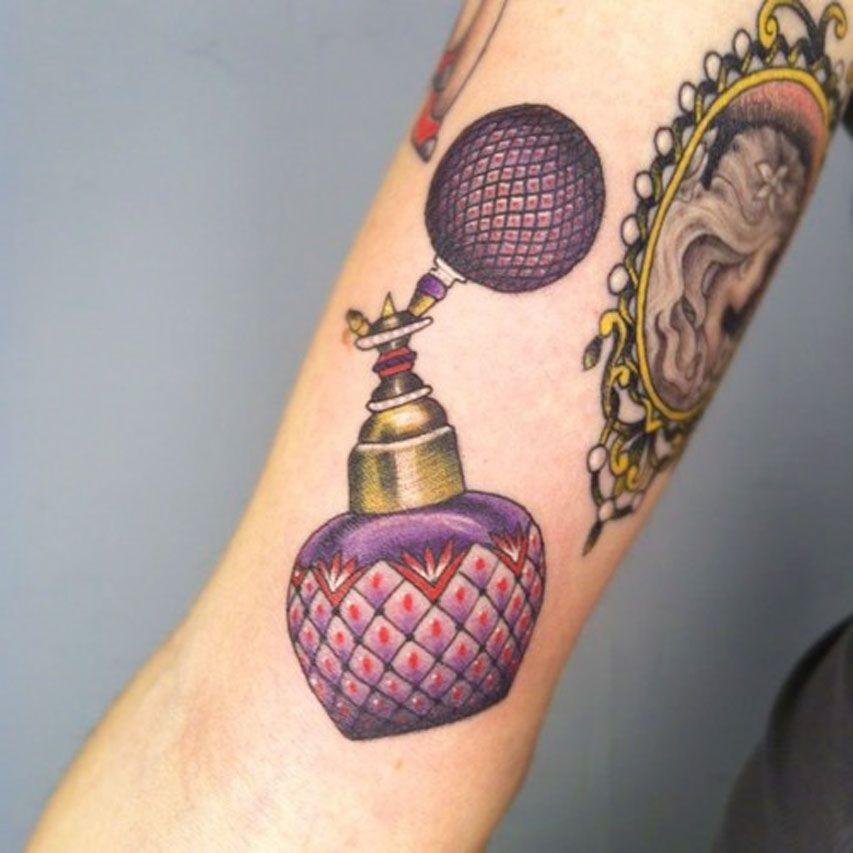 Small Bottle Tattoo: Perfume Bottle Tattoo, Bottle