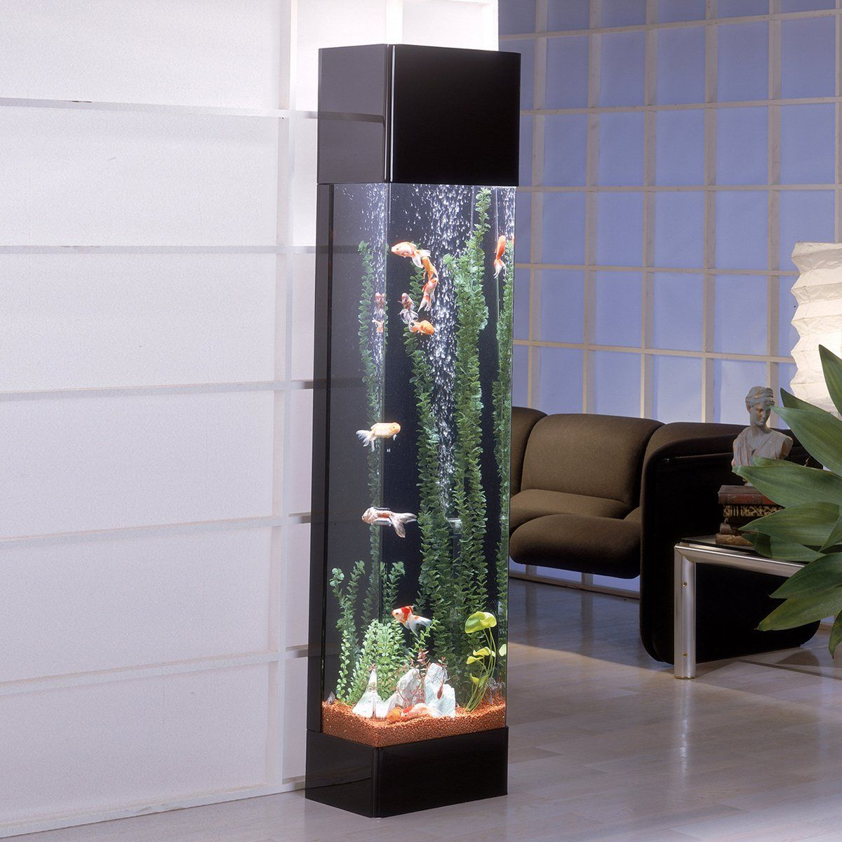 Midwest tropical rt 3000 rectangle aqua tower vertical for Floor fish tank