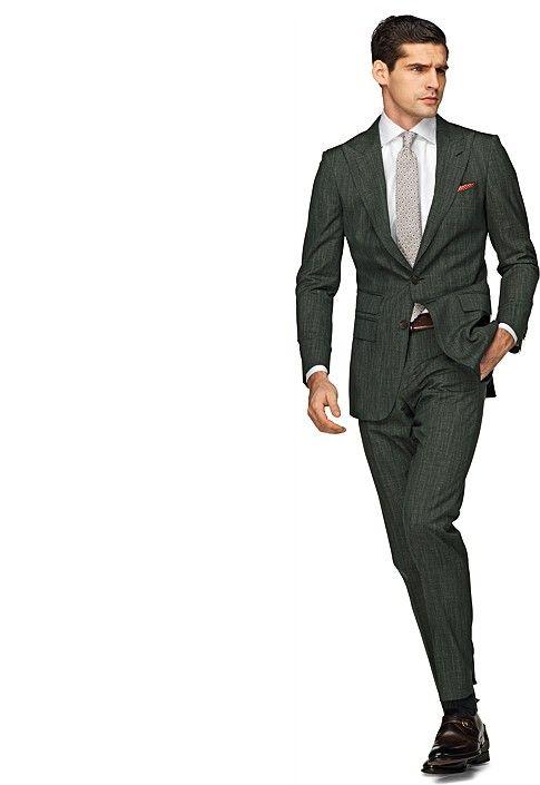 ca1a3669b553 Suit Dark Green Plain Washington P3515i | Suitsupply Online Store ...