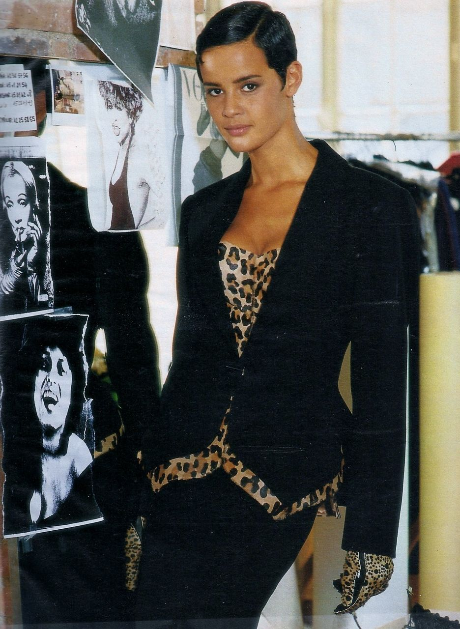 'Et Alaia crea la femme' from……….Elle France October 1991 feat Nadege du Bospertus