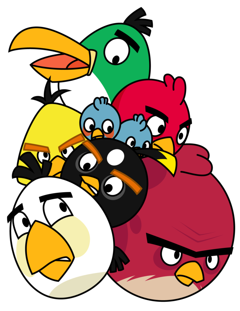 Pila de Angry Birds...