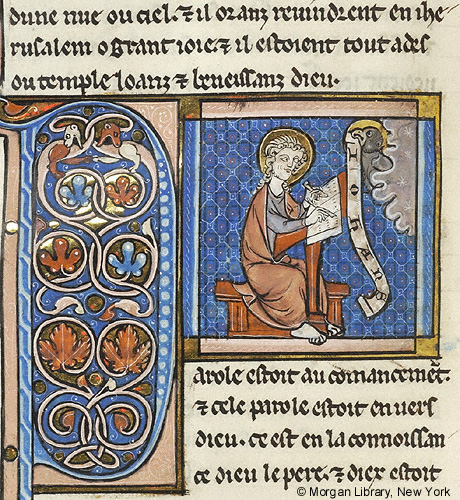 Bible Ms M 494 Fol 562v Images From Medieval And Renaissance Manuscripts The Morgan Library Museum Medieval Medieval Art Medieval Paintings