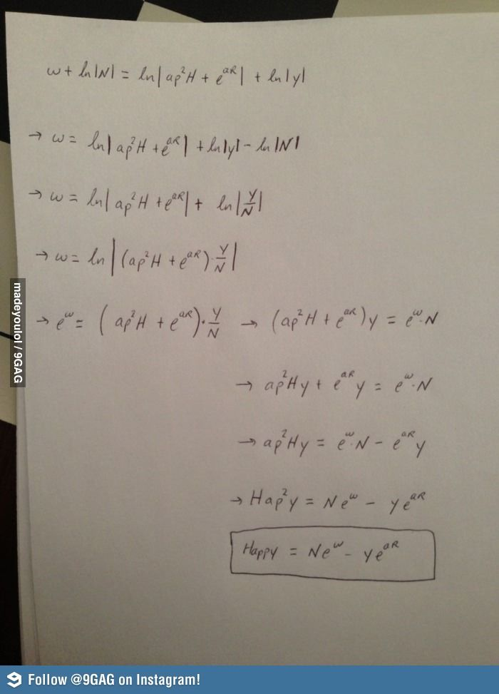 The Happy Formula Math Humor Happy New Year Math Jokes