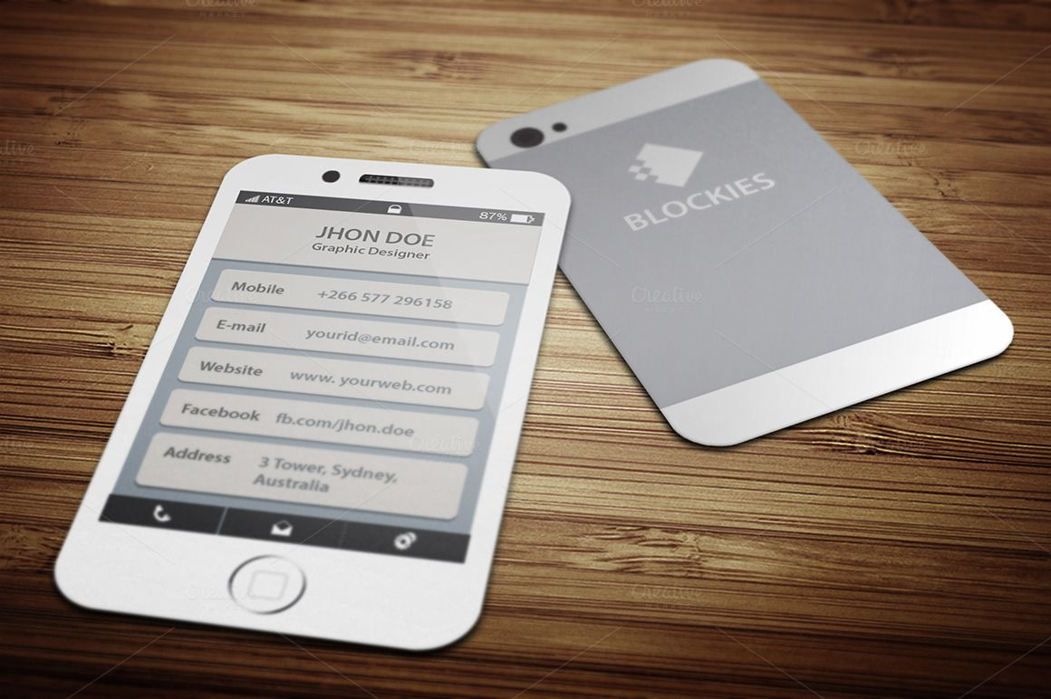 Iphone 6 (25% Off) Business Card | Business cards, Business and Card ...