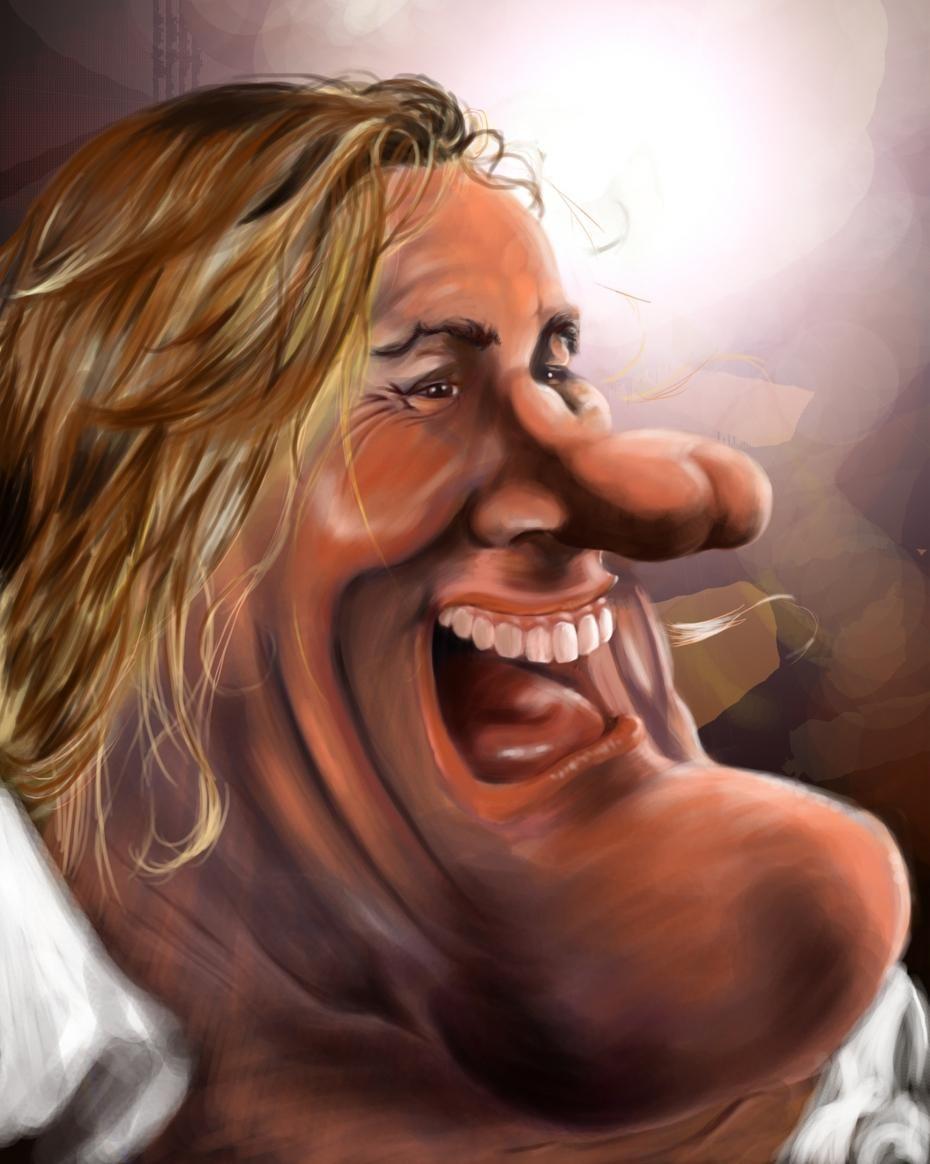farrah fawcett caricature   Share