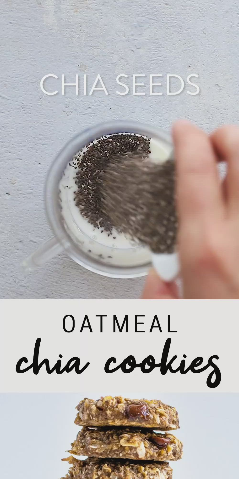 Delicious Recipes! Oatmeal Chia Cookies