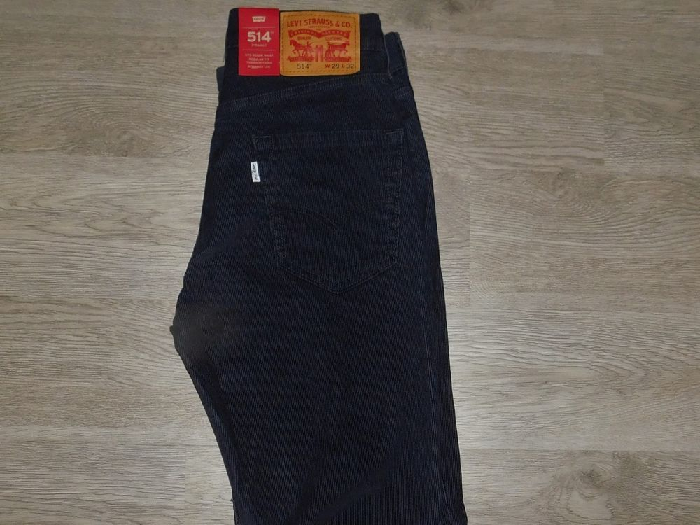 f385639a Levis Jeans 514 Corduroy Pants 29x32 Stretch Straight Below Waist Navy Blue  NWT #fashion #clothing #shoes #accessories #mensclothing #pants #ad (ebay  link)