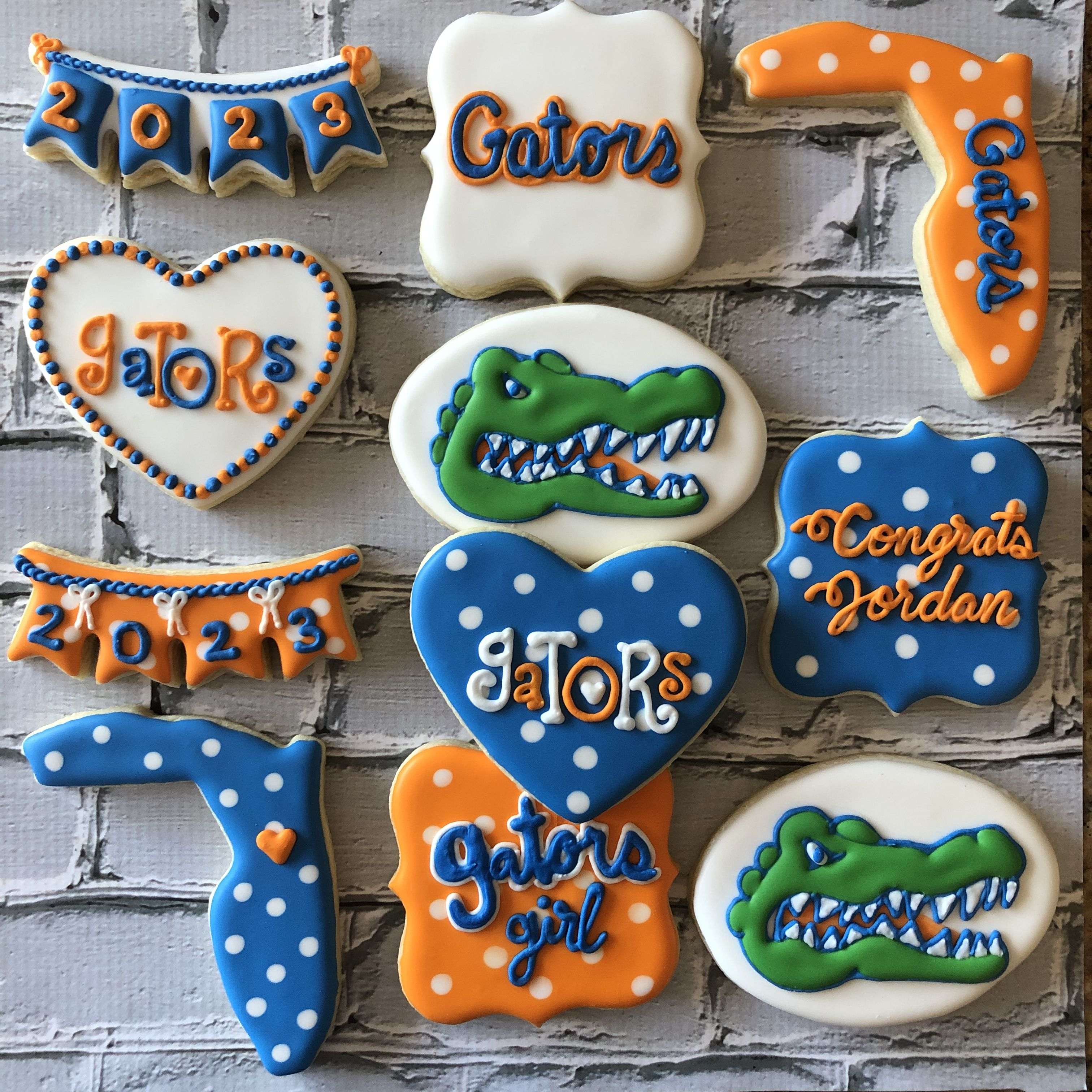 Custom UF Florida Gators Cookies To see my other work or for