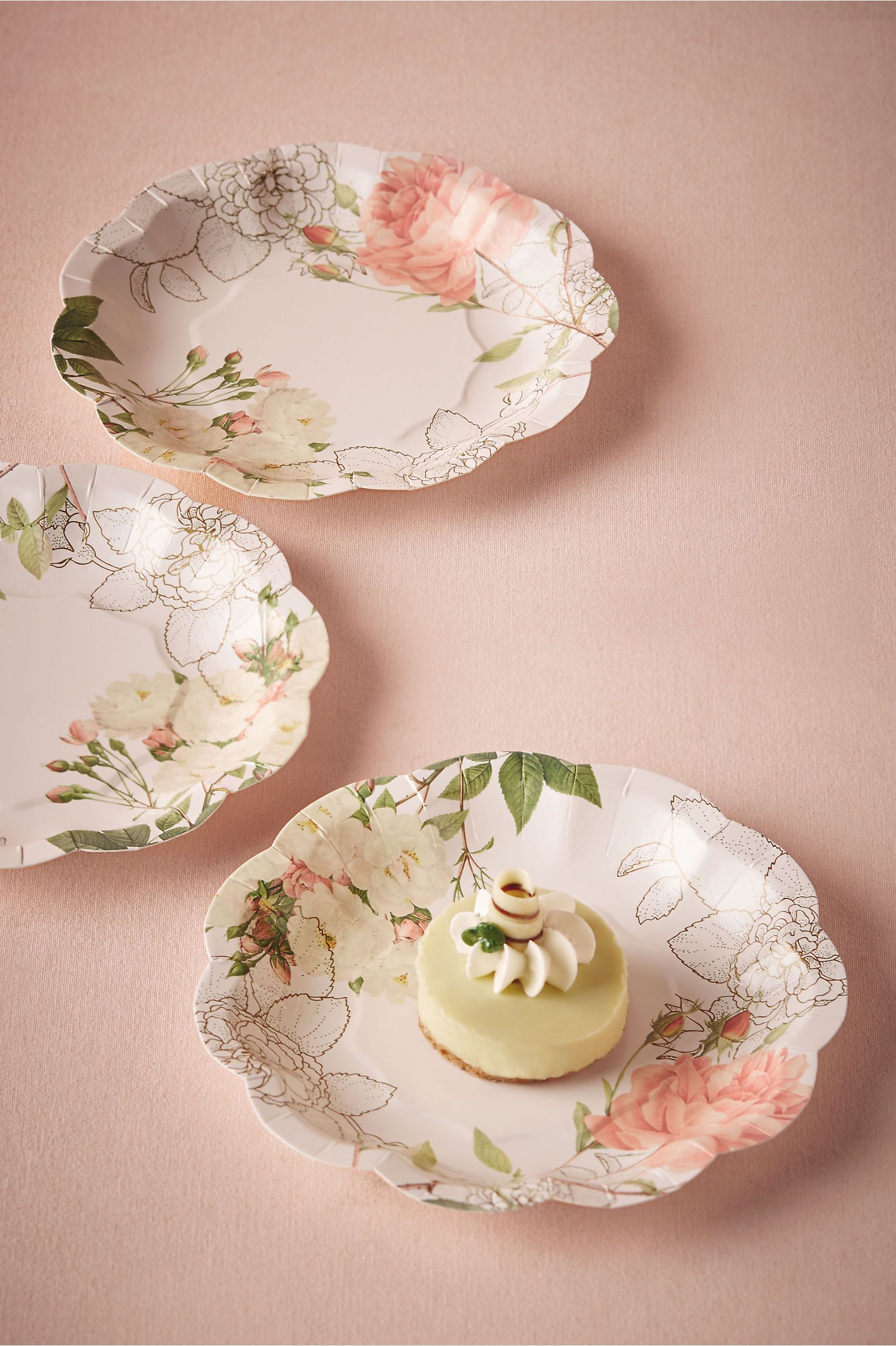 wedding cake plates and napkins paper floral cake plates corsage paper plates from bhldn 23504