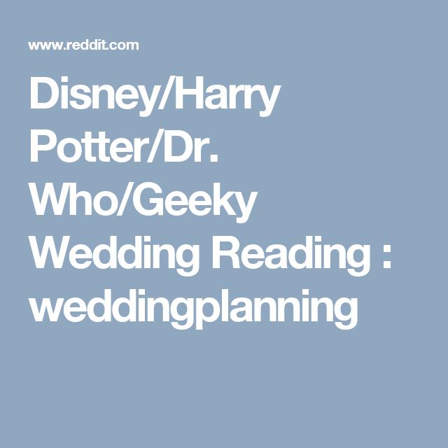Disney Harry Potter Dr Who Geeky Wedding Reading Weddingplanning