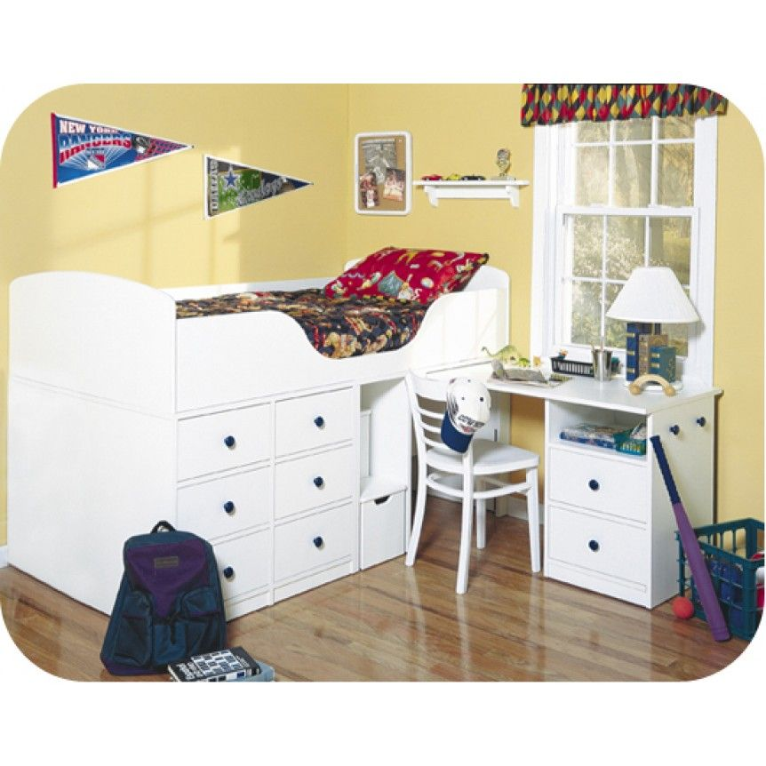 Berg Captains Bed With Pull Out Desk
