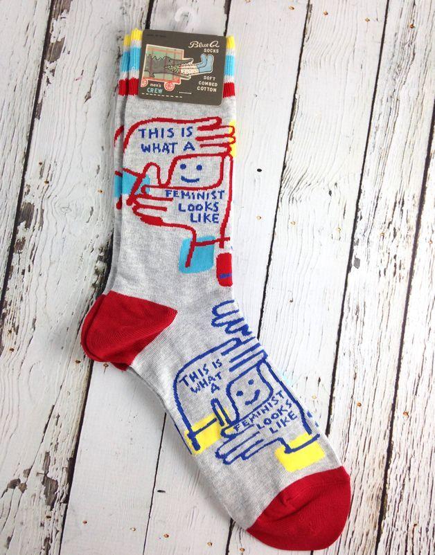 Feminist Looks Like Men's Crew Socks Mannskapsokker, sokker, menn  Crew socks, Socks, Men