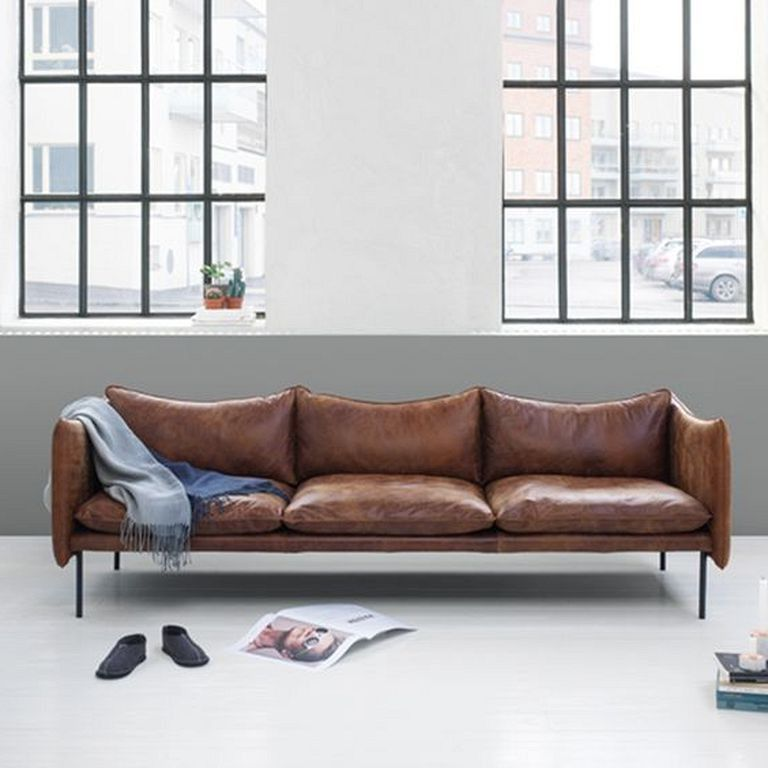 24 Comfy Modern Leather Brown Sofa Design Ideas For Living Room Page 16 Of 26 Brown Sofa Living Room Brown Sofa Design Sofa Design