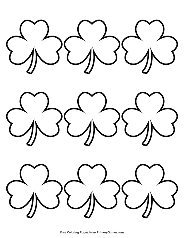 St. Patrick's Day Coloring Pages eBook Simple Shamrock