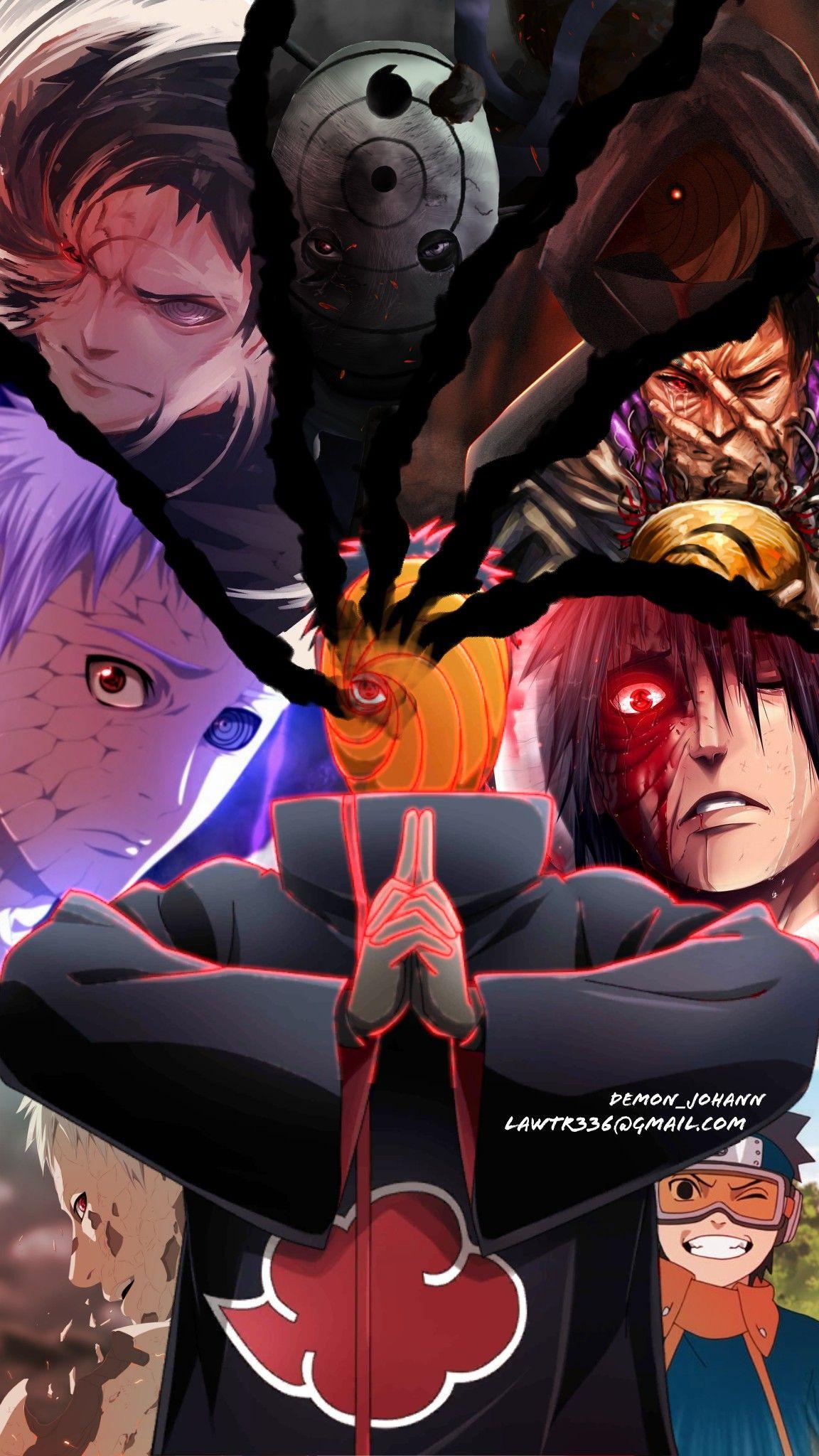 Obito Uchiha Akatsuki Naruto Naruto Uzumaki Art Anime Akatsuki Anime Chibi