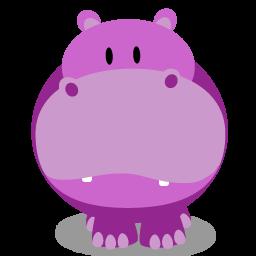 hippopotamus icon - Google Search | Cards | Cartoon hippo ...