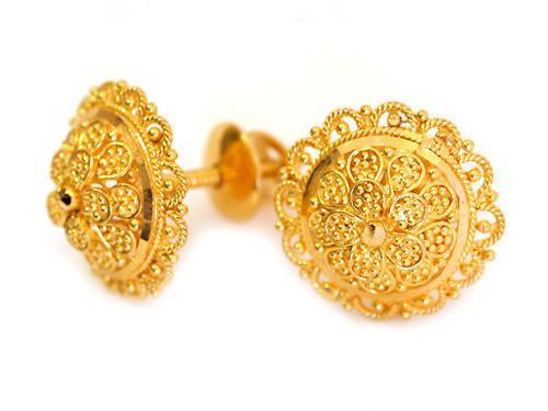 fd42c7bd6 Gold Tops Earring | Jewelry in 2019 | Earrings, Gold jewelry, Yellow ...