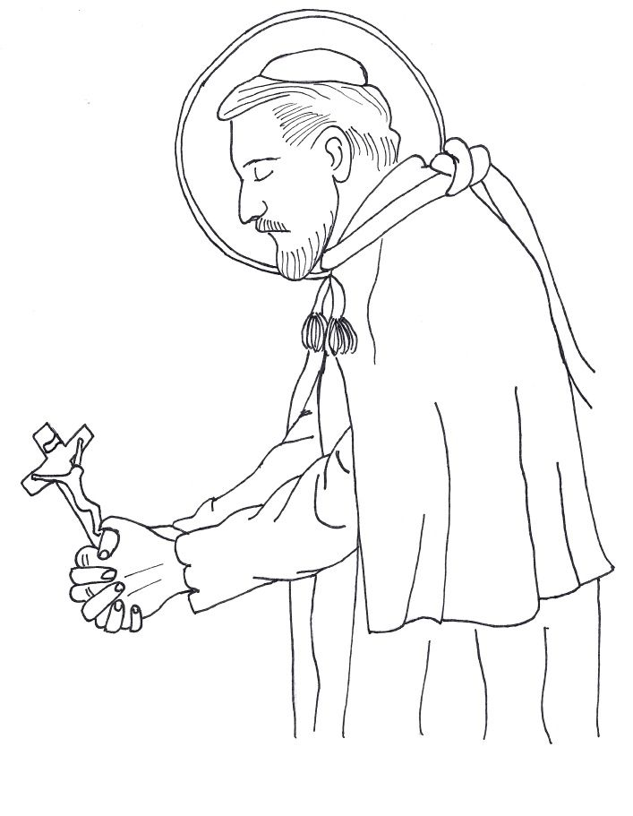 Coloring page in honor of St Charles Borromeo All coloring pages - copy coloring pages of joseph and the angel