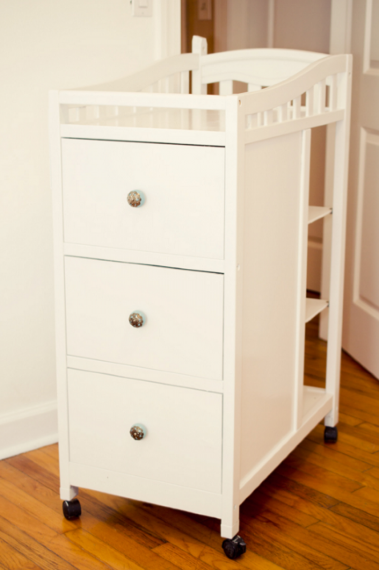Small Changing Table Farmhouse Nursery Furniture