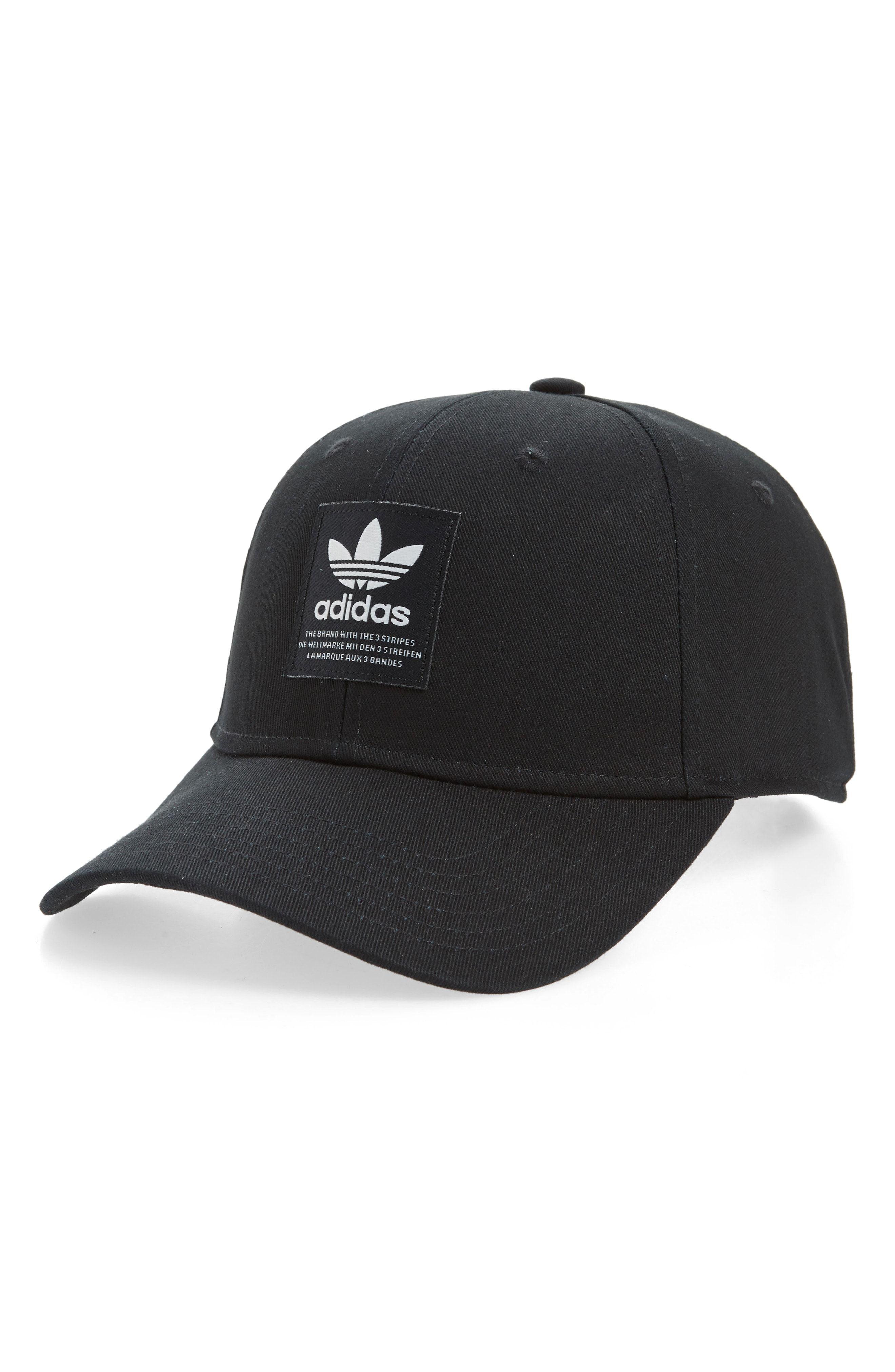 d834a23e34b ADIDAS ORIGINALS PATCH BASEBALL CAP - BLACK.  adidasoriginals Square Logo