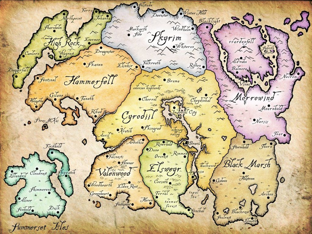 The elder scrolls tamriel map elder scrolls tamriel skyrim and elder scrolls map of tamriel the elder scrolls tamriel map brianwalsh01s blog gumiabroncs Choice Image