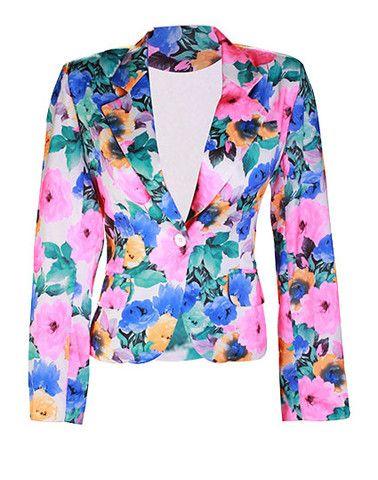 Saco Flores Fashion Jackets Blazer