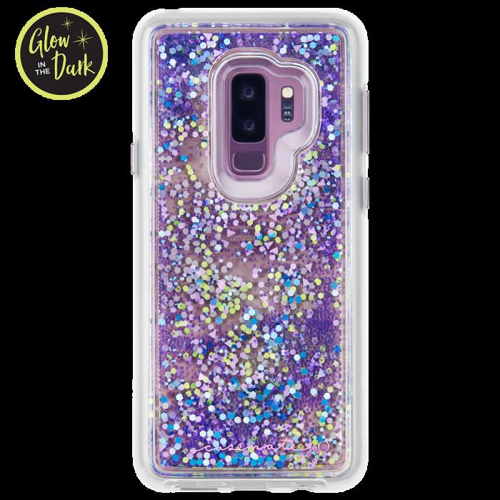 Samsung Galaxy S9 Purple Glow Waterfall Back Samsung Phone Phone Samsung Phone Cases