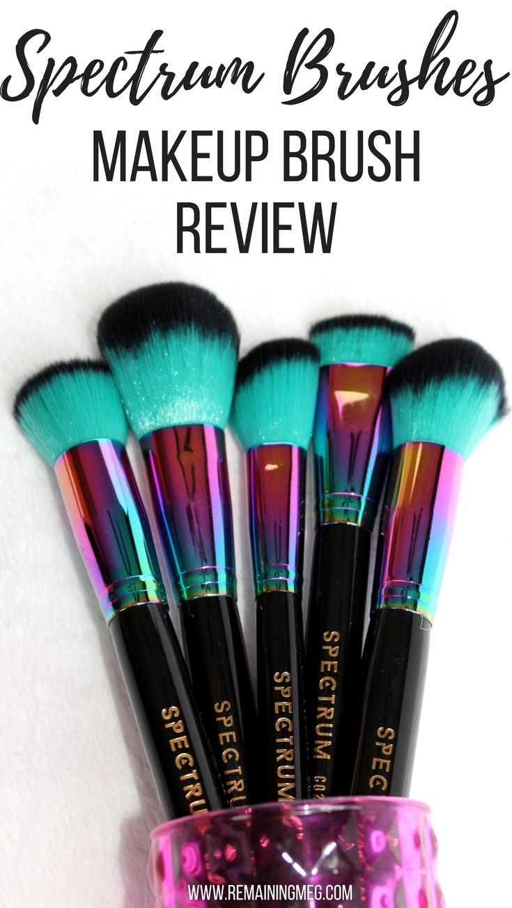 Spectrum Brushes A Makeup Brush Review (With images) | Makeup brush reviews. Spectrum brushes. Makeup brushes