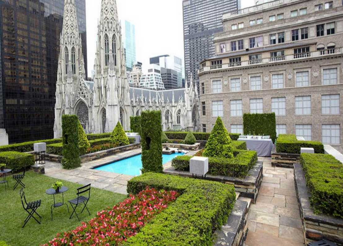 Rockefeller Center Rooftop Garden NYc With Pool