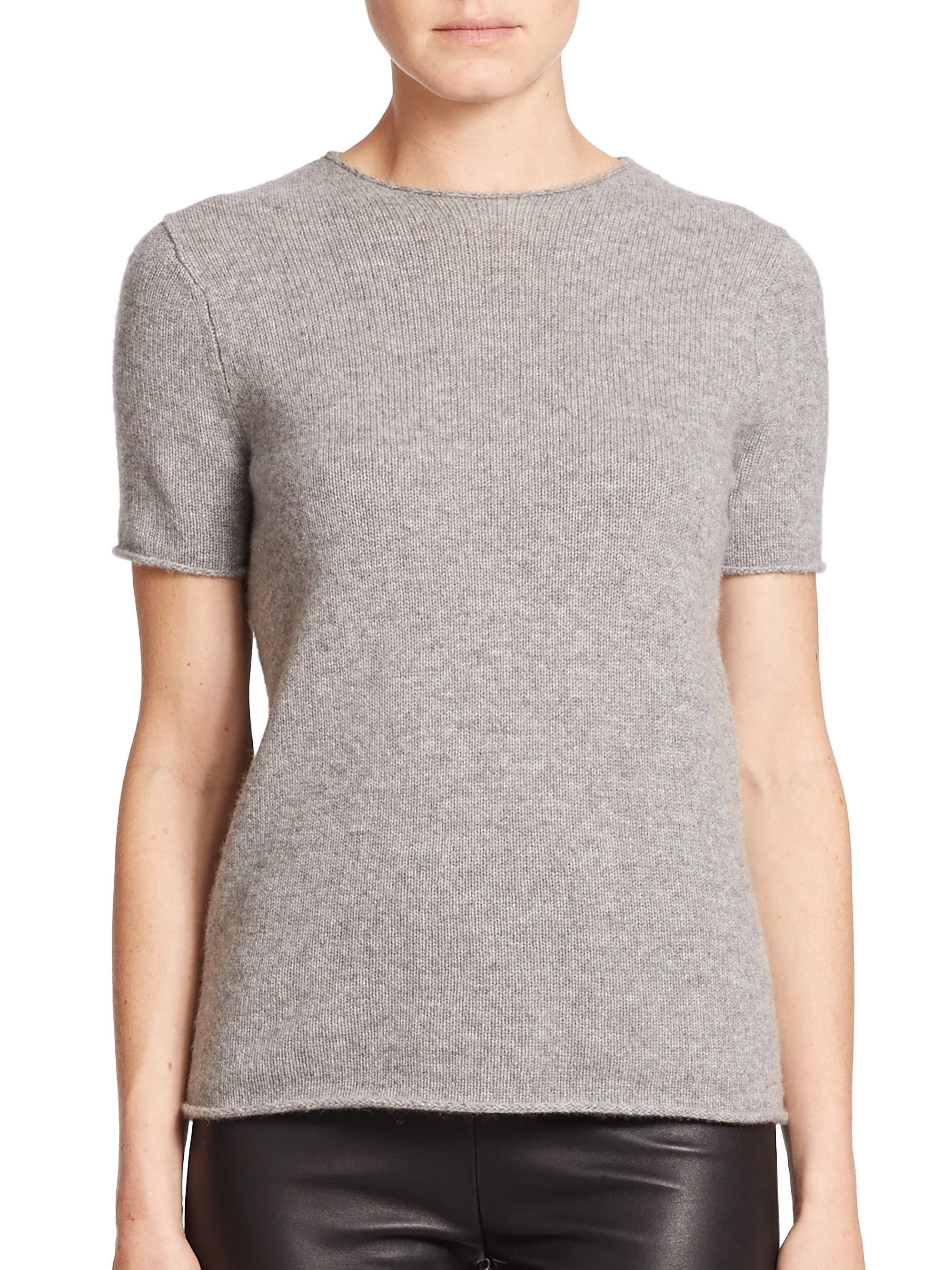 81a35daac35 Theory Tolleree Cashmere Tee - Black Small   Products   Tees ...