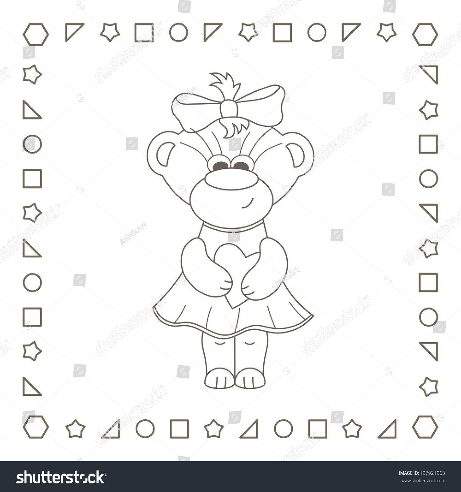 Teddy Bear Coloring Page Fresh Lovely Teddy Bear with