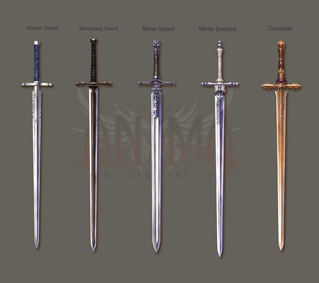 fantasy weapons | Anima: Knight swords set 1 by Wen-M on ...